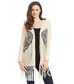 Hippie Laundry Diamond Print Cardigan