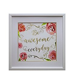 Star Creations Be Awesome Gold Foil Roses Artwork