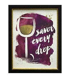 Star Creations Watercolor Wine Savor Every Drop Artwork
