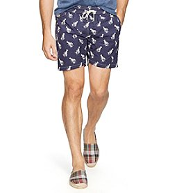 Polo Ralph Lauren® Men's Lobster-Print Traveler Swim Shorts