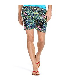Polo Ralph Lauren® Men's Flamingo-Print Traveler Swim Shorts