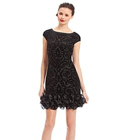 Jessica Simpson Burnout Ruffle Shift Dress