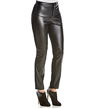 DKNYC® Faux Leather Front Leggings