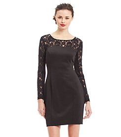 Jessica Simpson Lace Scuba Sheath Dress