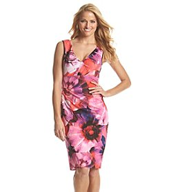 Adrianna Papell® Floral Photorealistic Dress