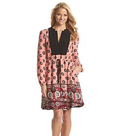 Adrianna Papell® Printed Peasant Dress