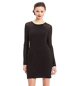 GUESS Sheer Sleeve Sheath Dress