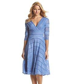 Sangria™ V-Neck Lace Dress