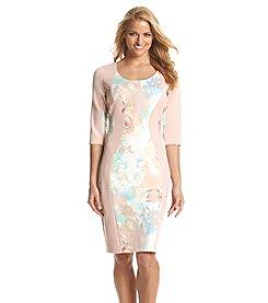 Sangria™ Floral Scuba Dress