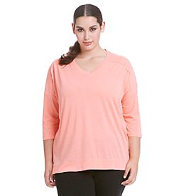 Calvin Klein Performance Plus Size Hi-Lo Performance Top