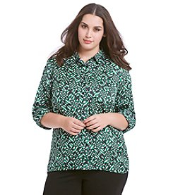 MICHAEL Michael Kors® Plus Size Printed High-Low Top