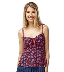Beach House® Cape May Adjustable Neck Tankini Top