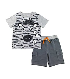 Nannette® Boys' 2T-7 Safari Shirt And Shorts Set