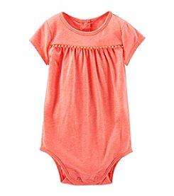 OshKosh B'Gosh® Baby Girls' 12-24 Month Pom Pom Bodysuit