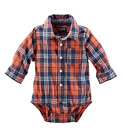 OshKosh B'Gosh® Baby Boys' 12-24 Month Plaid Button Up Bodysuit