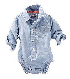 OshKosh B'Gosh® Baby Boys' 12-24 Month Stripe Button Up Bodysuit