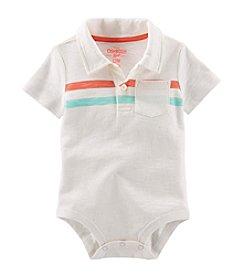 OshKosh B'Gosh® Baby Boys' Two Stripe Polo Bodysuit
