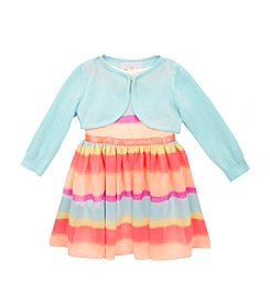 Rare Editions® Baby Girls' Stripe Dress With Cardigan
