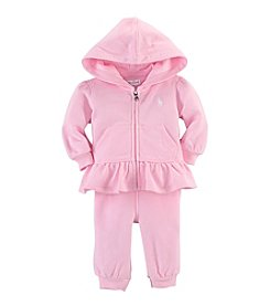 Ralph Lauren® Baby Girls' Caramel Pink Fleece Hook-Up