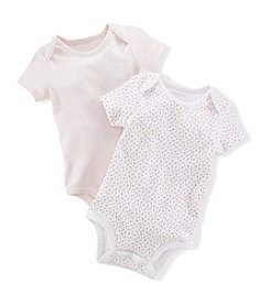 Ralph Lauren® Baby Girls' 2-Pack Floral and Delicate Pink Bodysuits