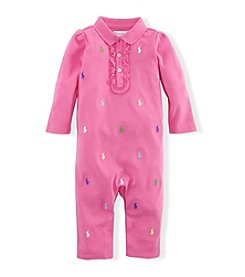 Ralph Lauren® Baby Girls' Pony Cotton Coveralls