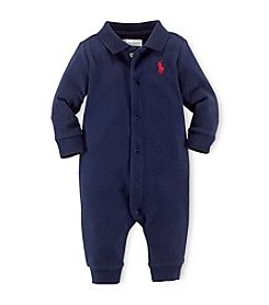 Ralph Lauren® Baby Boys' Solid Cotton Coveralls