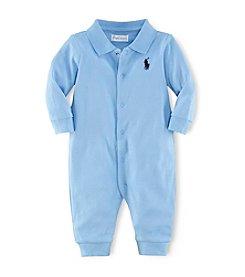 Ralph Lauren Childrenswear Baby Boys' Newborn-12M Solid Cotton Coveralls