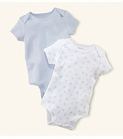 Ralph Lauren Childrenswear Baby Boys' Newborn-12M Two-Pk. Printed Envelope Neck Bodysuits