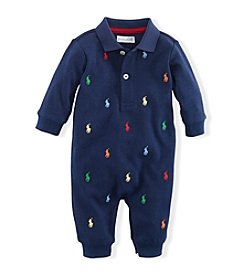 Ralph Lauren Childrenswear Baby Boys' Newborn-12M Pony Cotton Coveralls