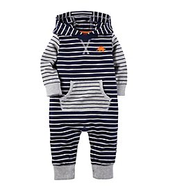Carter's® Baby Boys Striped Hooded Jumpsuit