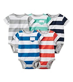 Carter's® Baby Boys' Newborn-24M Five-Pack Stripes Bodysuits