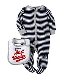 Carter's® Baby Boys' Newborn-9M Striped Valentines Snap Set