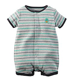 Carter's® Baby Boys' Short Sleeve Striped Monster Romper