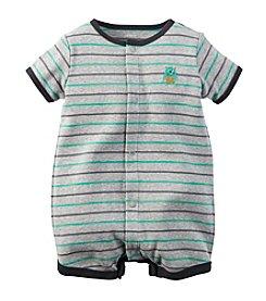 Carter's® Baby Boys' Short Sleeve Striped Monster Romper