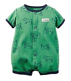 Carter's® Baby Boys' Short Sleeve Bulldog Print Romper