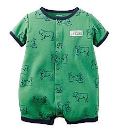 Carter's® Baby Boys' Short Sleeve Bulldog Print Romper