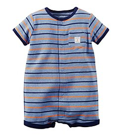 Carter's® Baby Boys' Short Sleeve Striped Romper