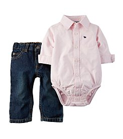 Carter's® Baby Boys' 2-Piece Oxford Bodysuit And Pants Set