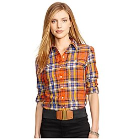 Lauren Jeans Co.® Plaid Herringbone Workshirt