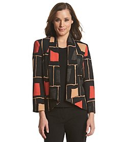 Nine West® Printed Open-Front Jacket