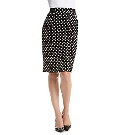 Nine West® Polka Dot Slim Skirt