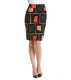 Nine West® Printed Crepe Skirt