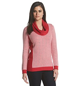 Calvin Klein Basketweave Cowl Sweater