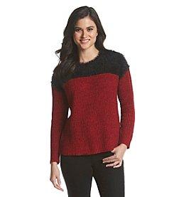 Vince Camuto® Marled Eyelash Sweater
