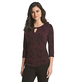 Vince Camuto® Lace Print Top