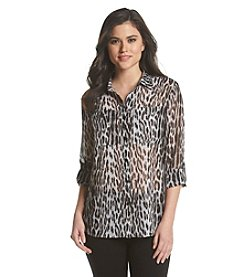 MICHAEL Michael Kors® Printed Button Down Top