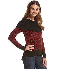 MICHAEL Michael Kors® Printed Cowl Sweater