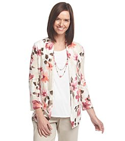 Alfred Dunner® Baton Rouge Floral Layered Look Sweater