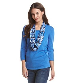 Notations® Ruched Scarf Sweater