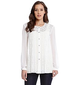 Karen Kane® Mixed Lace Blouse